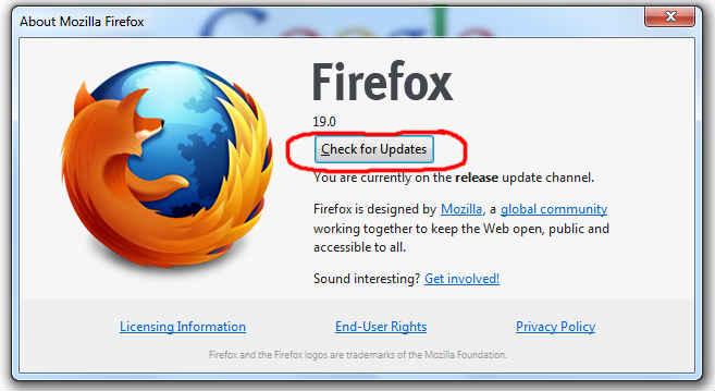 دانلود آپدیت فایرفاکس