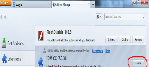disable idm firefox2 آموزش فعال و غیر فعال کردن IDM در فایرفاکس