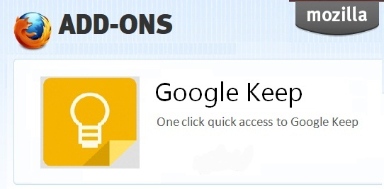 google keep unofficial firefox افزونه گوگل کیپ برای فایر فاکس