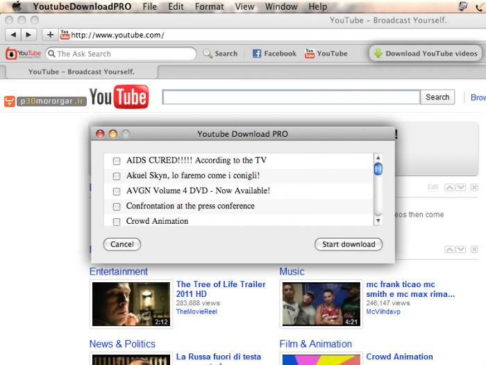 YouTube Downloader Pro Mac معرفی بهترین ابزار برای دانلود فیلم های یوتیوب در سیستم عامل مک