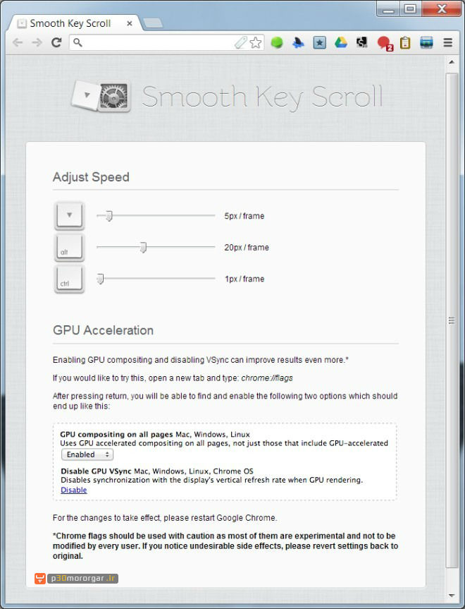 Smooth-Key-Scroll-options