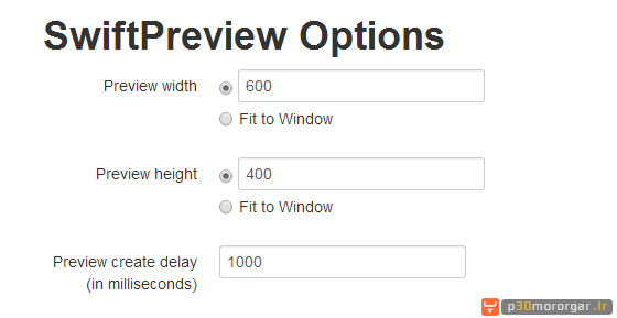 Swift-Preview-Settings