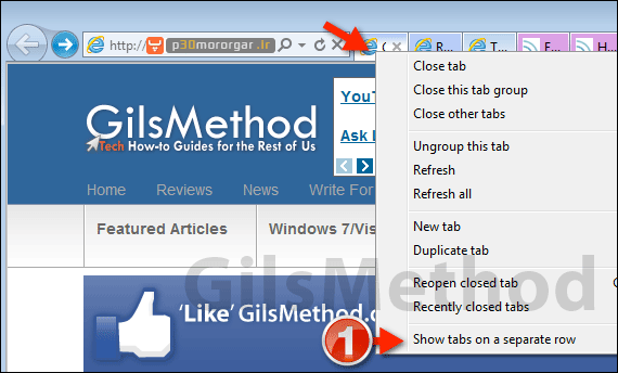 show-tabs-separate-row-internet-explorer-9