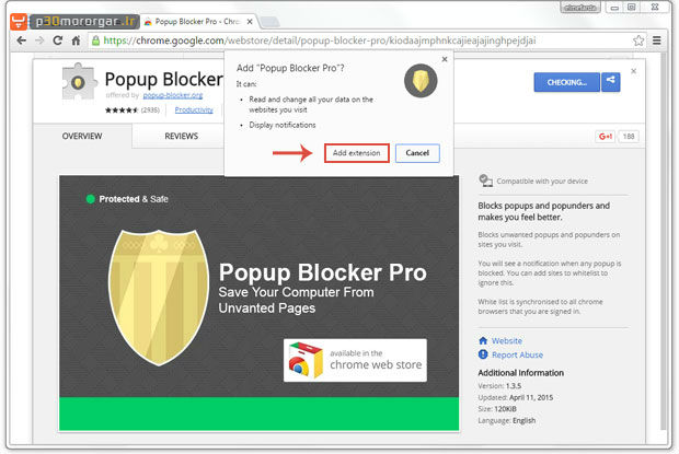 install-Popup-blocker-pro-extension-notification